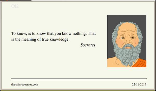 20171122:Socrates:Knowledge