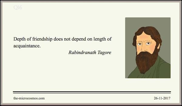 20171126:Rabindranath Tagore:Friendship