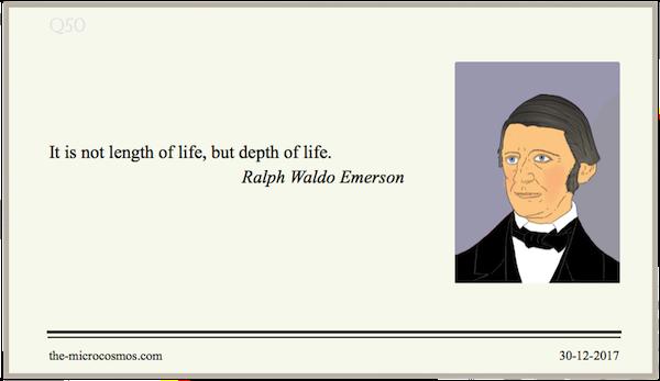 20171230:Ralph Waldo Emerson:Life