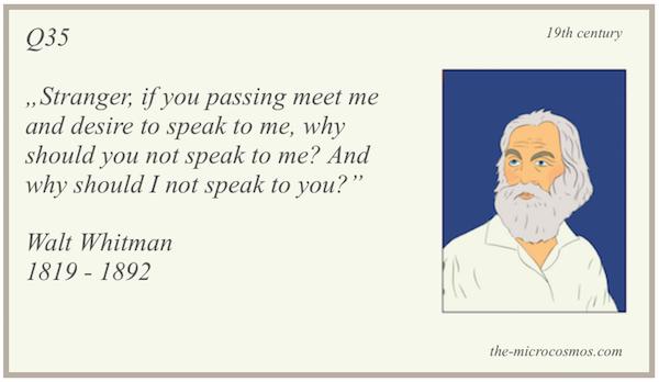 Q35 - Walt Whitman