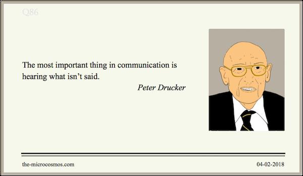 20180204:Peter Drucker:Communication