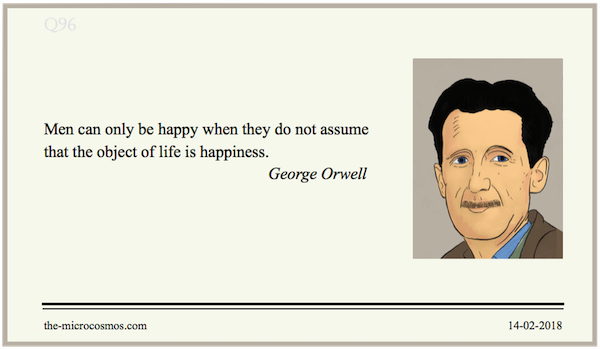 20180214:George Orwell:Happiness