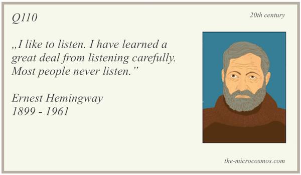 Q110 - Hemingway