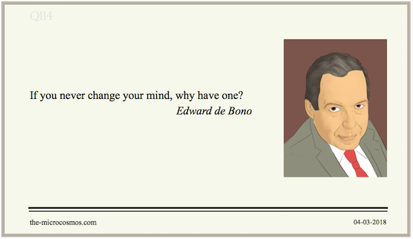 20180304:Edward de Bono:Mind