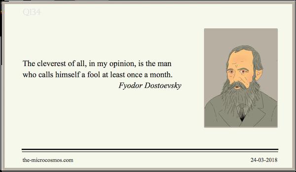 20180324:Fyodor Dostoevsky:Cleverest.png